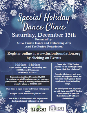 Fusion Foundation Special Holiday Dance Clinic